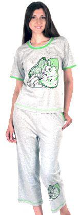Домашний костюм - футболка с рукавом и бриджи Арт. 05014610Г