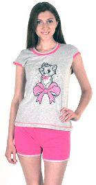 Домашний костюм - серая футболка и цветные шорты. Арт. 0513713