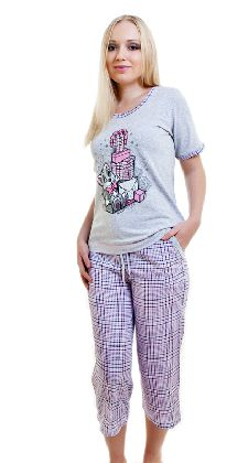 Костюм с бриджами «Лисичка с подарками» клетка Арт. 05140