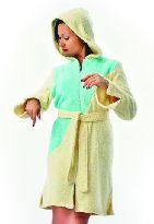 Короткие махровые халаты