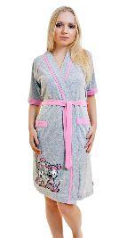 Женский трикотажный халат с рисунком. Арт. 05147