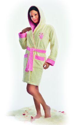 Женский короткий махровый халат «PlayBoy». Арт. 02063