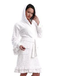 Женский короткий махровый халат «Мальва». Арт. 02064