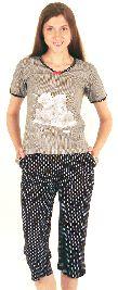 Женский домашний трикотажный костюм с бриджами. Арт. 0514020