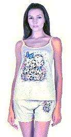 Домашний костюм - Серая майка и серые шорты. Арт.0514583