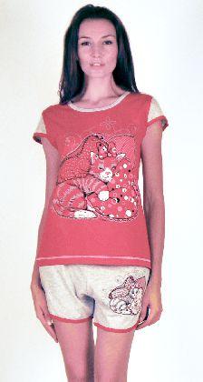 Домашний костюм - футболка и серые шорты. Большие размеры. Арт.05137Г78