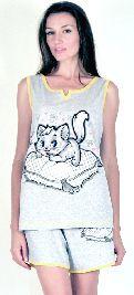 Домашний костюм - серая футболка и серые шорты. Арт.05151Г59