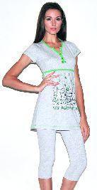Женский домашний трикотажный костюм с капри. Арт. 05150211