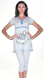 Женский домашний трикотажный костюм с капри. Арт. 05150208
