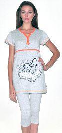 Женский домашний трикотажный костюм с капри. Арт. 05150207