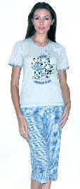 Женский домашний трикотажный костюм с бриджами. Арт. 05140190
