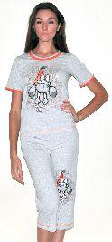 Домашний костюм - серая футболка и серые бриджи. Арт.05140182