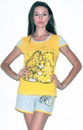 Домашний костюм - футболка и серые шорты. Арт.05137Г164