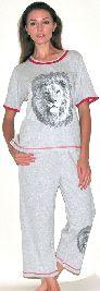 Домашний костюм - цветная футболка с рукавом и бриджи. Арт.05146Г161