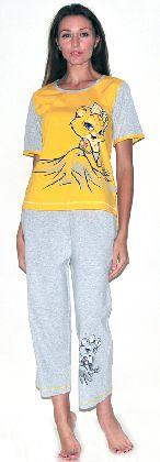 Домашний костюм - футболка с рукавом и бриджи. Арт. 05146Г155