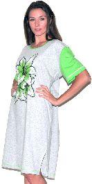 Серая туника с цветным рукавом с боковыми разрезами. Арт.0582Г102