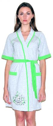 Женский трикотажный халат с рисунком. Арт.05147290