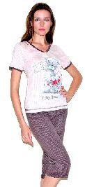 Женский домашний трикотажный костюм с бриджами. Арт.05140249
