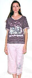 Домашний костюм - футболка и бриджи. Арт. 05146Г246
