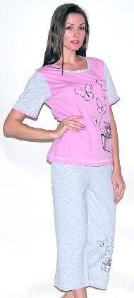Домашний костюм - футболка и  бриджи. Арт. 05146Г248