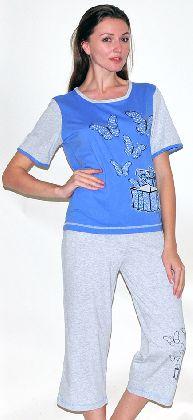 Домашний костюм - футболка и  бриджи. Арт. 05146Г247