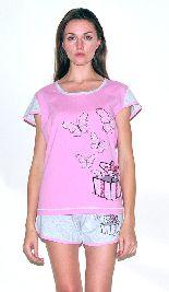 Домашний костюм - футболка и шорты. Арт.05137Г245