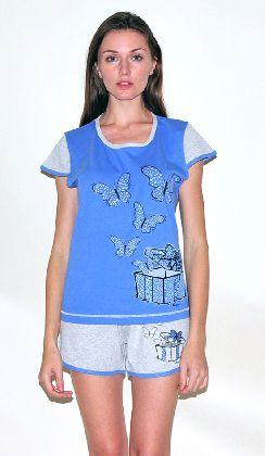 Домашний костюм - футболка и шорты. Арт.05137Г244