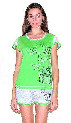 Домашний костюм - футболка и шорты. Арт.05137Г243