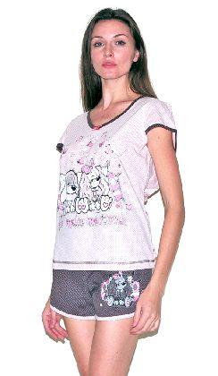Домашний костюм - футболка и шорты. Арт.05137Г240