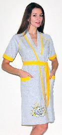 Женский трикотажный халат с рисунком. Арт.05147353