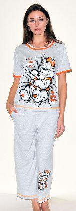 Домашний костюм - футболка с рукавом и бриджи Арт. 050146Г346