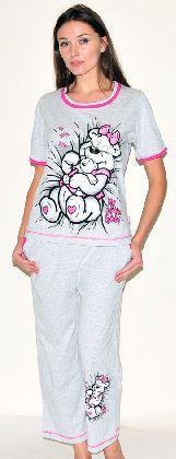 Домашний костюм - футболка с рукавом и бриджи Арт. 050146Г345