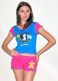 Домашний трикотажный костюм с шортами Арт. 0587421
