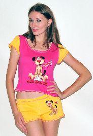 Домашний трикотажный костюм с шортами Арт. 0587420