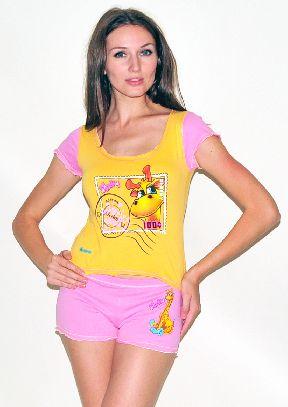 Домашний трикотажный костюм с шортами Арт. 0587416