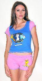 Домашний трикотажный костюм с шортами Арт. 0587415