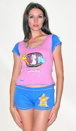 Домашний трикотажный костюм с шортами Арт. 0587414