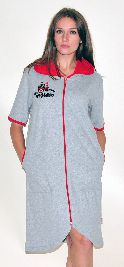 Женский трикотажный халат с вышивкой. Арт.05129388